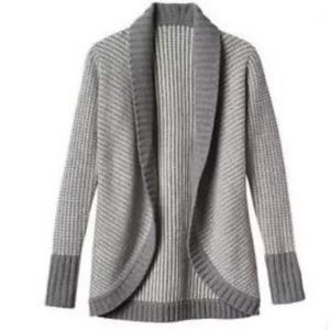 Athleta Sierra Wrap Cocoon Cardigan Grey Knit wool